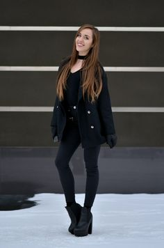 BLACK TOTAL LOOK | SAMMYDRESS COAT