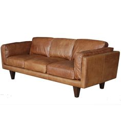 "$2390. Collins 90"" Leather Sofas 