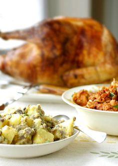 Portuguese Turkey with Two Stuffings Recipe | Leite's Culinaria