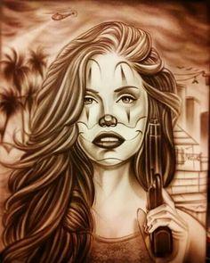 Down ass chic Chicano Drawings, Chicano Tattoos, Body Art Tattoos, Art Drawings, Tatoos, Goodfellas Tattoo, Cholo Art, Latino Art, Prison Art