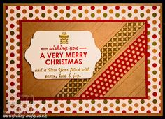 Wishing You Washi Tape Christmas Card by UK Stampin' Up! Demo Bekka Prideaux - check her blog for lots of fun ideas