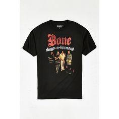 Bone Thugs E. 1999 Eternal Tee ($28) ❤ liked on Polyvore featuring men's fashion, men's clothing, men's shirts, men's t-shirts, mens cotton shirts, mens crew neck t shirts, j crew mens shirts and mens cotton t shirts