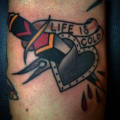 #tattoo #daggertattoo #hearttattoo