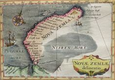 Nova Zembla, Willem Barentsz; Bertius - Novae Zemlae delineatio - 1618 Geography Map, Historical Maps, Old World, Nova, History, Rivers, Arctic, Lakes, Dutch