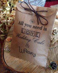 From DetailsonDemand: Custom Wedding Favors, Cookie bags, recycled brown paper cake take home sack, Personalized, Monogram, Rustic to Swanky, Beautiful treat gift...