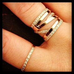 Dana Faith stacking rings.  Love!