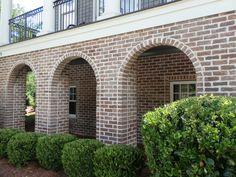 Arches of Charlestowne Handmade Brick in Charleston, SC. Brick Porch, Brick Driveway, Arches Park, Brick Archway, Delta House, Brick Companies, Brick Art, Brick Garden, Thin Brick