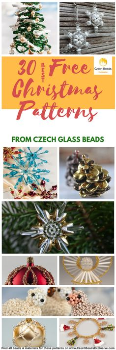 30 Best Patterns and Tutorials from Czech Glass Beads  Huge Inspirational Collection of Christmas Patterns! - Buy now with discount!  Hurry up - sold out very fast! SAVE them!  #czechbeadsexclusive #czechbeads