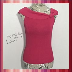 ~NWT Ann Taylor LOFT 50's Style Off Shoulder Top~ This Brand NEW w/tag Ann Taylor Loft size Small, adorable, 50's style, fold-over off shoulder, sleeveless (looks like cap sleeve) blouse is too cute for words.❣ This can be worn alone or with a cardigan, for twork or play. It's a breathable fabric making it perfect for Spring/Summer & it's fitted for a tasteful & flattering look. LOFT Tops