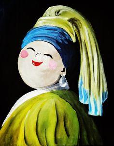 Deze zou zo in het museum kunnen, toch? Je kan 'Meisje met de Parel' nu helemaal zelf schilderen, in de stijl van de Dikke Dames. Te moeilijk? Welnee. Onze fantastische kunstenaars leggen je stap-voor- stap uit hoe je dit doek schildert en in twee uur kan je een meesterwerkje mee naar huis nemen. Bestel snel …