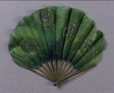 Fan, early 20th century - actresses would not enjoy these peacock feathers. Bad luck! But beautiful.