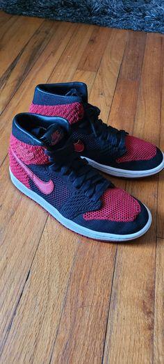 Air Jordan 1 high flyknit bred gs size 5 | Mercari Athletic Clothes, Athletic Outfits, Athletic Shoes, Jordan Retro 1, Jordan 1, Shoe Collection, Nike Men, Men's Shoes, Air Jordans