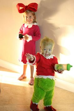 cindy lou who and the grinch cheapest halloween costumes so far thrift - Baby Grinch Halloween Costume