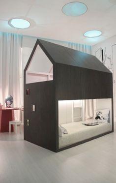 Awesome loft bed using IKEA KURA - gotta love a good Ikea hack!