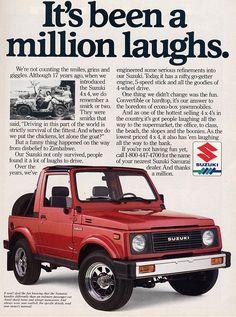 Suzuki Samurai ad.