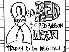 It's just a photo of Luscious Red Ribbon Week Coloring Pages