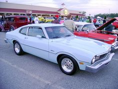 Although mine was a beautifully oxidized silver, this was my first car.....a 1976 Ford Maverick BABY!!!!