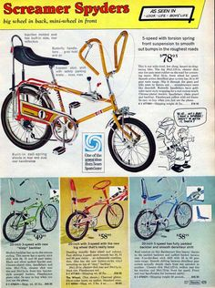 1969 Sears Screamer Spyder bicycle ad