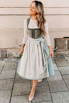 Camilla, Carrie, Julia Trentini, Ludwig Therese, Lace Skirt, Midi Skirt, Mint Green, Cord, Skirts