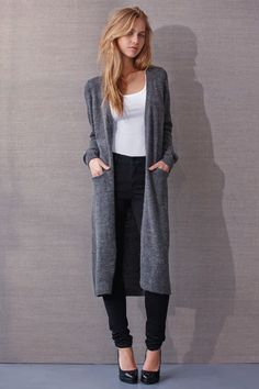 Riva long knit cardigan for the basic wardrobe! #vilaclothes #basic