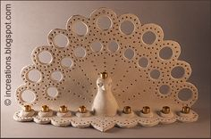 """One of our favourite modeling materials is """"Keramikal"""". It's pretty soft, nice and can be fired in a regular kitchen oven. We used it to make our Hanukiyot (Hanukkah Menorah's) this year. How? Click through."""