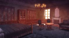 You do know the anime Diabolik Lovers, but you've only watch it. Fantasy Rooms, Fantasy Bedroom, Fantasy Castle, Fantasy Places, Diabolik Lovers, Episode Interactive Backgrounds, Episode Backgrounds, Fantasy Art Landscapes, Fantasy Landscape