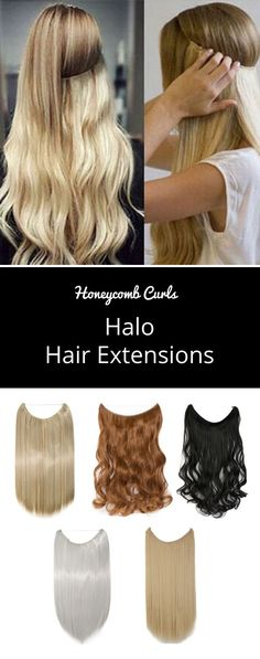 Halo Hair Extensions Did you know, clip in hair extensions can put a lot of pressure on your scalp & damage your roots over time? You may want long, incredible hair but why sacrifice the health of your natural hair? That's why we have these Halo Hair Exte Straight Wavy Hair, Thin Hair Cuts, Short Hair, Luxy Hair, Wavy Hair Extensions, Halo Extensions, Hair Tuck, Pelo Natural, Natural Weave