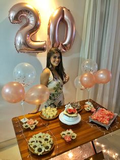 Trendy Birthday Party Ideas For Adults Decorations Summer Ideas Small Birthday Parties, Gold Birthday Party, Happy Birthday Balloons, Birthday Table, Adult Birthday Party, 20th Birthday, Mouse Parties, Simple Birthday Decorations, Diy Party Decorations