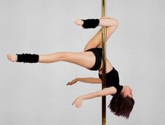 pole exercising is the hardest workout i've ever had. i want one in my house.