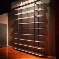 Much better pic thanks to @ralphgeroni #coldrendesign #interiordesign #customfurniture #woodandsteel #welded #steelfurniture #modernfurniture #madeinphilly #handmade #heavy #bookshelf