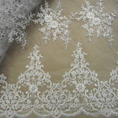 2015 Hotselling Gorgous White Guipure Lace Fabric, Wedding Corded Guipure Lace with Sequin for Bridal Dresses-in Lace from Home & Garden on Aliexpress.com   Alibaba Group