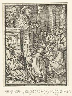 1524 - 1526 Hans Holbein (II), Hans Lützelburger, Pastor and Death (Predikant en de Dood)