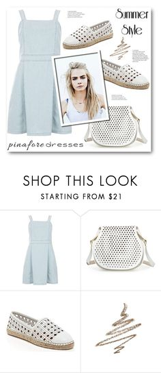 """Pinafores"" by stranjakivana ❤ liked on Polyvore featuring Dorothy Perkins, Cynthia Rowley, Kate Spade, Anastasia Beverly Hills, pinafores and 60secondstyle"