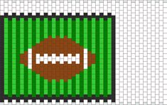 Football Flying Above A Field Bead Pattern   Peyote Bead Patterns   Misc Bead Patterns