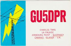 QSL card from Jerbourg Point, Guernsey.