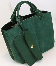 Nubuck leather go everywhere tote. Rolled handles.