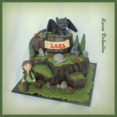 How to train your dragon! - Cake by Karen Dodenbier
