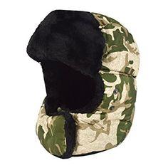 Buy Felice Unisex Winter Hat Cap Trooper Trapper Hat Hunting Eskimo Hat  Ushanka Ear Flap Camo Aviator Bomber Hat With Mouth Cover (Green)  Shop top  fashion ... b62ec17e2f9d