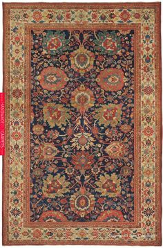 ZIEGLER SULTANABAD, West Central Persian, x Late Century. We were extremely pleased at the numerous outstanding Sultanabad rugs Persian Carpet, Persian Rug, Iranian Rugs, Door Rugs, Rug Company, Patterned Carpet, Rugs On Carpet, Hotel Carpet, Mosaics