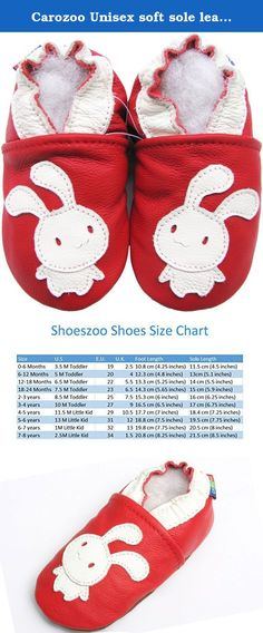 carozoo frog red 0-6m soft sole leather baby shoes