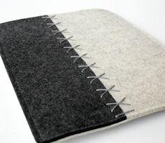 Felt IPad Sleeve in Merino Wool in Gray and by fuzzylogicfelt, $45.00