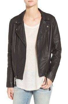 Free shipping and returns on Treasure&Bond Quilted Leather Moto Jacket at Nordstrom.com. Quilted panels and metallic hardware play up the rocker-chic vibe of a moto-inspired jacket crafted from luxuriously soft leather. The versatile piece is fully lined for a smooth and comfortable fit over anything in your closet.When you buy Treasure&Bond, Nordstrom will donate 2.5% of net sales (that's 5% of net profits) to organizations that work to empower youth.