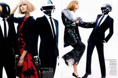 Daft Punk and Karlie Kloss for Vogue US by Craig McDean