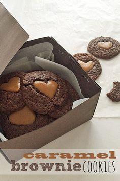 Soft Caramel Brownie Cookies