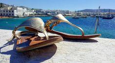 #ladolcevita a Mykonos 😍 grazie ad Ornella Prisco  #mykonos #sandals #madeinitaly