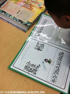 Classroom Freebies: Comprehension Mats