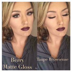 #Fall Forecast    BOLD BROWS #BrowSense  NATURAL EYE (except for thick liner) #ShadowSense   DARK Lip #LipSense  #LoveTheSkinYouAreIn  To order ✔️out my FB page @https://m.facebook.com/bethmclean.lovetheskinyouarein/ I'm on Instagram too @beth_mclean_ Distributor #211935  The #gorgeous #model in the pic is the #lovely Jenna Bakk ❤️❤️
