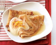 Gingerbread Crepes with Maple Cream
