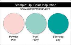 Stampin' Up! Color Inspiration: Powder Pink, Pool Party, Bermuda Bay
