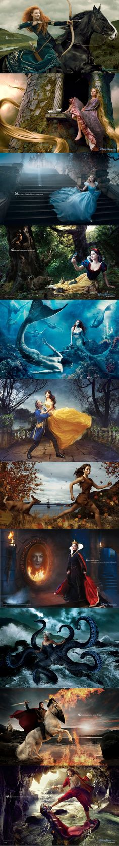 Amazing! Photoshopped actors/actresses as Disney Characters